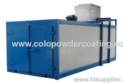 Low energy consumption powder coating spray ovens