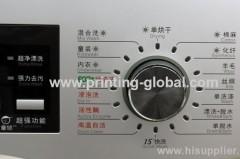 Heat transfer film for washing machine/control panel of washing machine