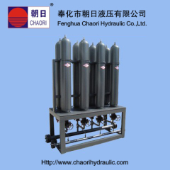 hydraulic piston accumulator station