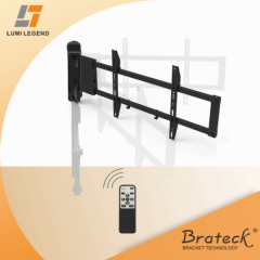 Remote control motorized TV wall mount