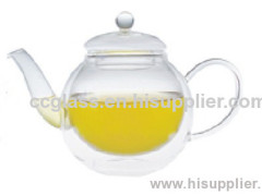Insulate Double Wall Glass Teapots Coffee Pots