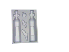 plastic pvc insert flocking tray in paper box for cosmetics