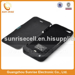External leather battery charger case For iphone 5 5g