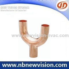 Air Conditioner Copper Fittings - Copper Y Bend