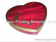 Matel heat transfer film/hot stamping film for metal present box