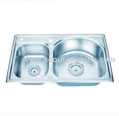 9/ 8 inches Depth topmount kitchen sink