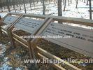 Environmental WPC Sign Board and Construction for Garden Indicator