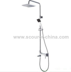 Wall Mounted Exposed Shower Faucet with Shower Kit 1 pc of fittings pack