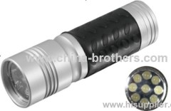 Mini Flashing Led Lights Cute Aluminum 9 Led flashlight