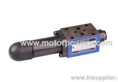 sandwich plate Pilot operated pressure relief valve 4 adjustment elements