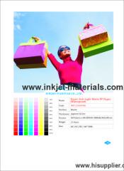 210mic Super Anti-Light Matte PP Paper