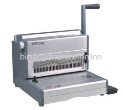 electric 3:1 pitch double wire punch and bind machine
