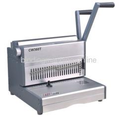 Double wire book binding machine