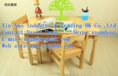 wooden study tables and chairs