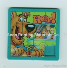 Hot stamping foils for cartoon jigsaw puzzle/Children puzzle toys
