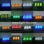 Triple-Digit 7-Segment LED Displays package dimensions,circuit diagram,pin out