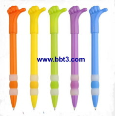 Promotional hand shape ballppoint pen with beautiful body