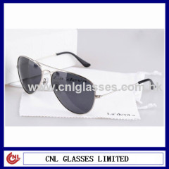 Metal polarized sunglasses aviator