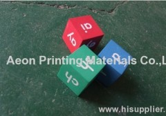 Hot stamping foils for custom dice toy/Acrylic toys