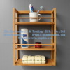 Wooden Shelves, Wooden Bathroom Storage Rack, bamboo towel, bamboo towel rack