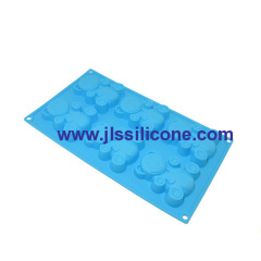 6-cavity lovely teddy bear silicone bakeware mould