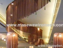 curved metal curtain ceiling decor