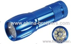 Bright light flashlihgt and mini led flashlight with 9 led bulbs