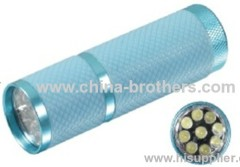 9 super bright led aluminum flashlight 3*AAA mini LED torch mini LED flashlight