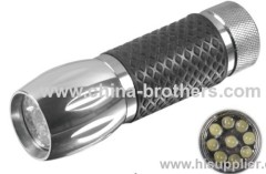 9 Led Aluminum mini torch promotional flashlight