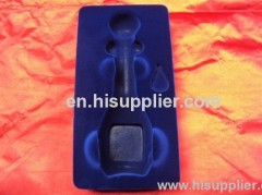 flocked blister cosmetic display plastic tray