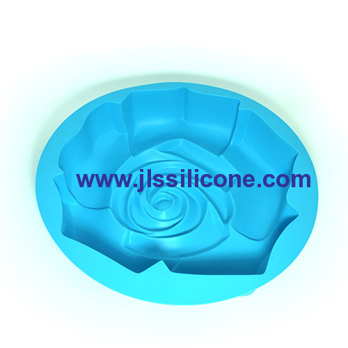 big rose shape silicone baking cake pans