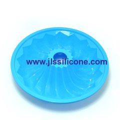big skyblue silicone bundt cake bakeware mouls
