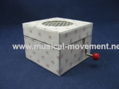 Hand Crank Music Boxes Customized Square Paper Box