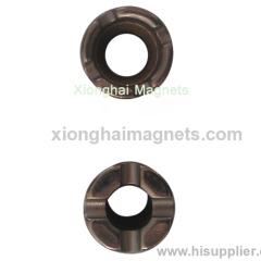 Supplier Black Nickle Diameter magnetic Neodymium Magnets Rare Earth N35 Cylinder D18-d8*40-D11.6/13.3*7-2.2*2mm