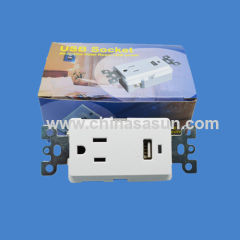 current 1A single usb wall socket china