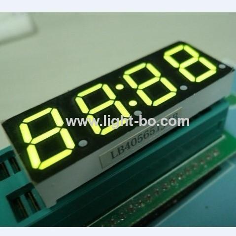 Common anode super green 4 digit 0.567 segment LED Clock Display
