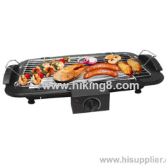 electric BBQ grill with cool touch handle