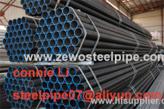 Seamless Steel Pipe with Plastic Cap and Black lacquer