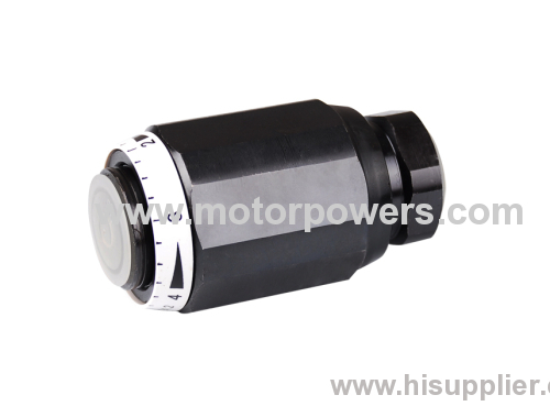 for direct in-line mounting throttle check valve