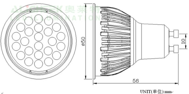 24pcs 3020 smd led spotlight with gu10  mr16 base from