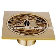 Excellent plating surface Brass Floor Drain