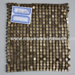Brass metallic Cloth 4mm flake size