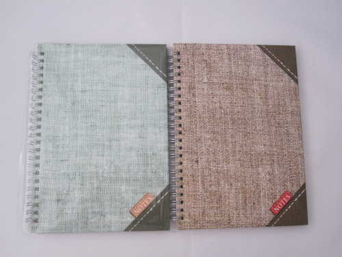 A5 college ruled hardcover spiral notebook 2 subject