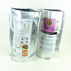 400g pure aluminum stand up pet food bag with zipper