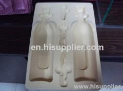 Plastic flocking blister packaging tray for bottle