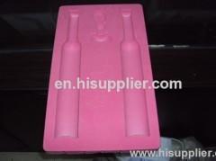 plastic insert tray with velvet for gift packaging