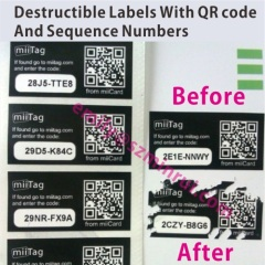 Warranty Eggshell Stickers With Random Numbers