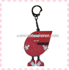 Custom shape and color pvc key tag
