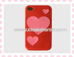 silicone Love pattern phone cover