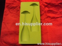 flocking PS material inner packing tray for wine made in China